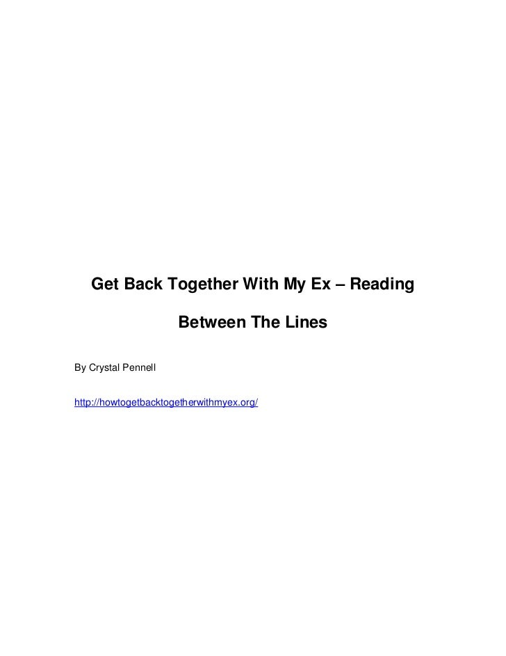 Get back together with my ex – reading between the lines