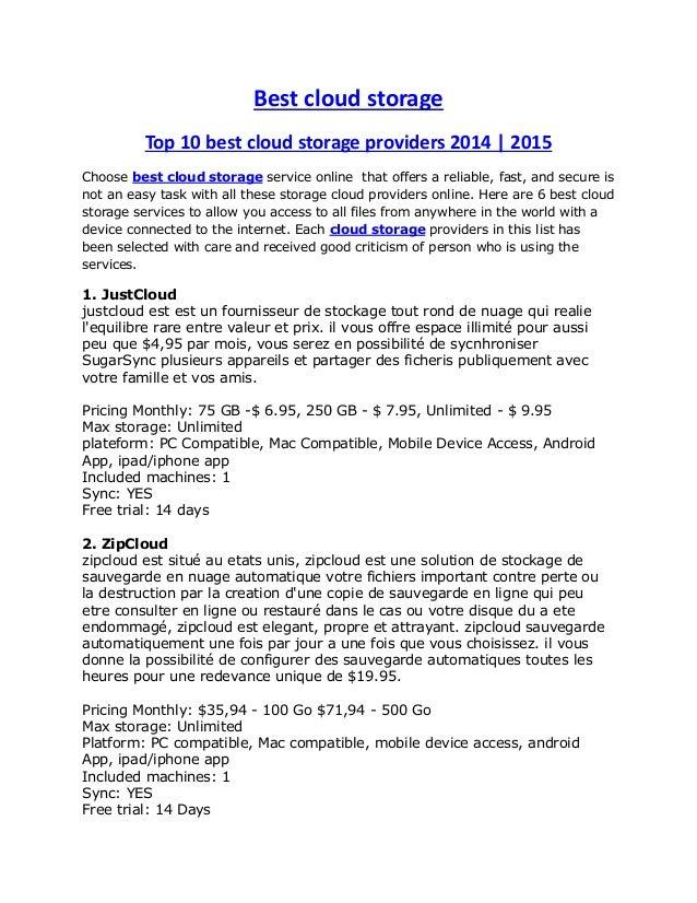 Best cloud storage Top 10 best cloud storage providers 2014 | 2015 Choose best cloud storage service online that offers a ...