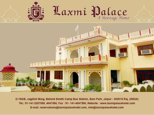 Get best heritage hotel in jaipur - laxmi palace hotel