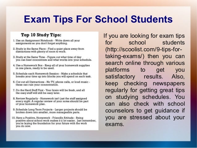 Study habits for high school?