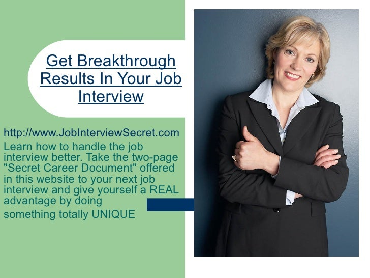 Get Breakthrough Results In Your Job Interview