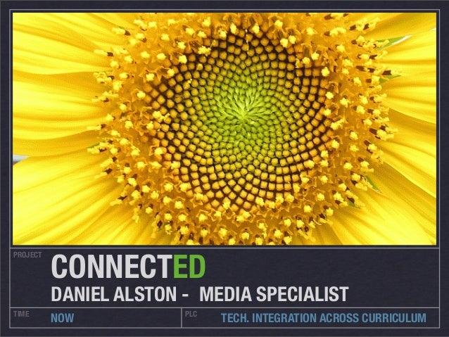 PROJECT TIME PLC NOW TECH. INTEGRATION ACROSS CURRICULUM CONNECTED DANIEL ALSTON - MEDIA SPECIALIST