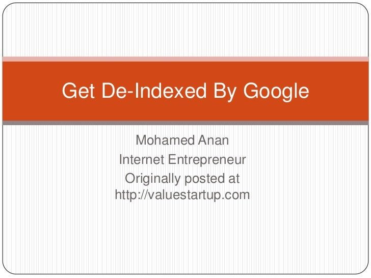 Get de indexed by google