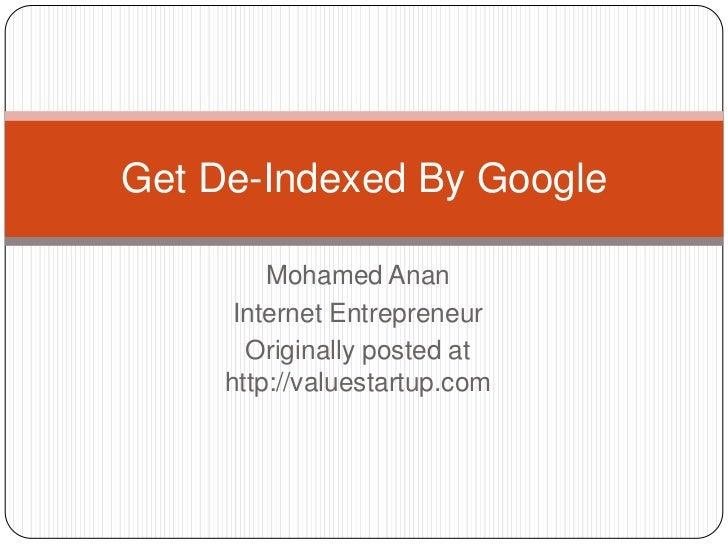 Get de indexed by google
