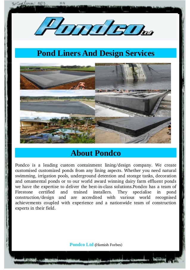 Get details on available choices in pond liners for Pond design app