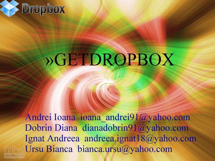 Andrei Ioana  [email_address] Dobrin Diana  [email_address] Ignat Andreea  [email_address] Ursu Bianca  [email_address] <u...