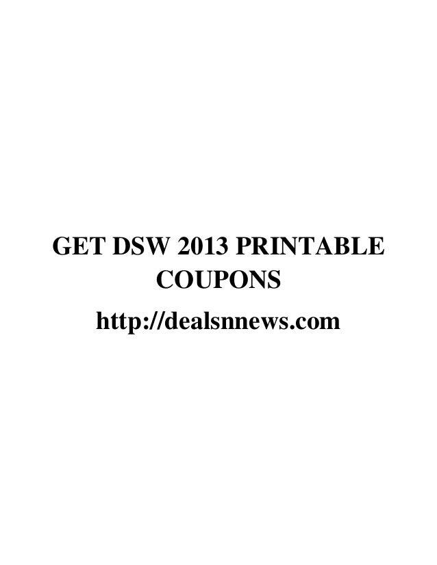 Dsw coupons november 2018 printable