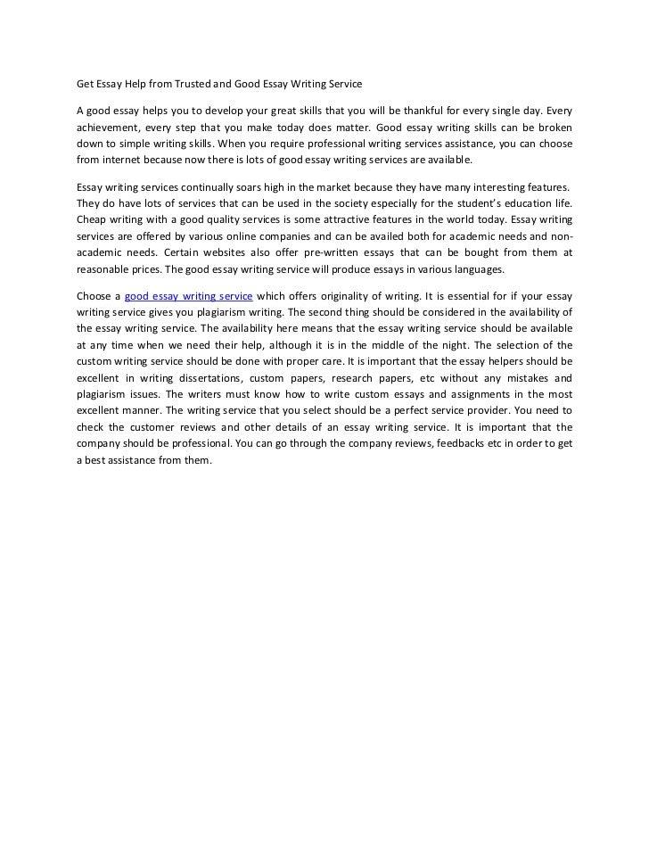 Essay custom writing service