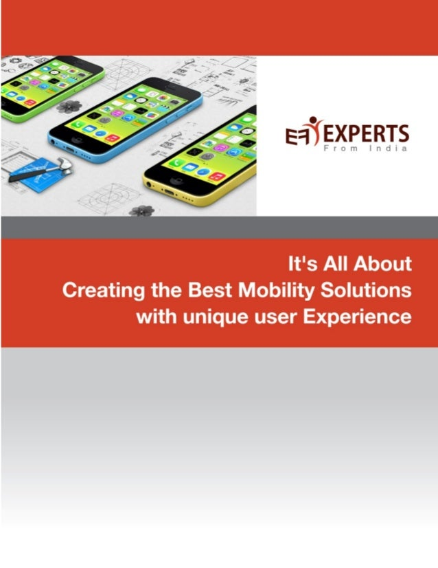 Get excellent mobile applications development services at expertsfromindia