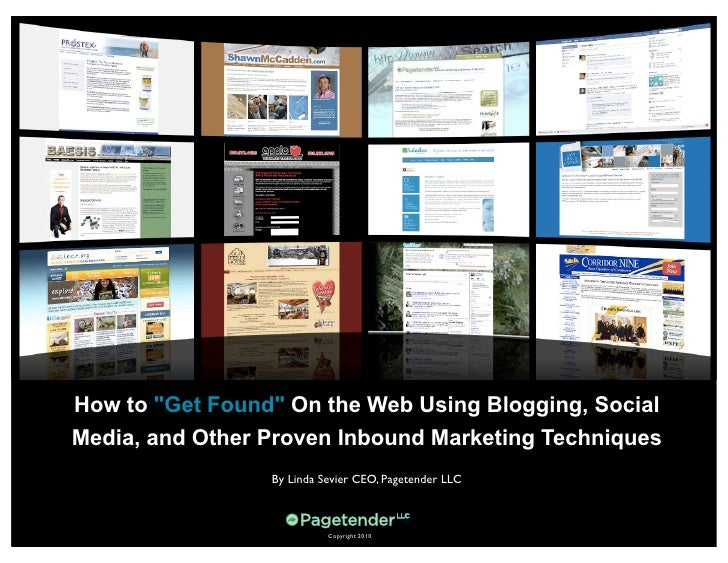 """How to """"Get Found"""" On the Web Using Blogging, Social Media, and Other Proven Inbound Marketing Techniques                 ..."""
