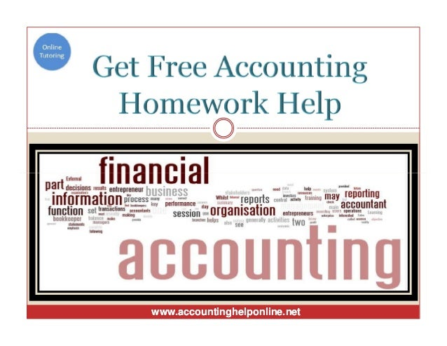Help with accounting homework problems