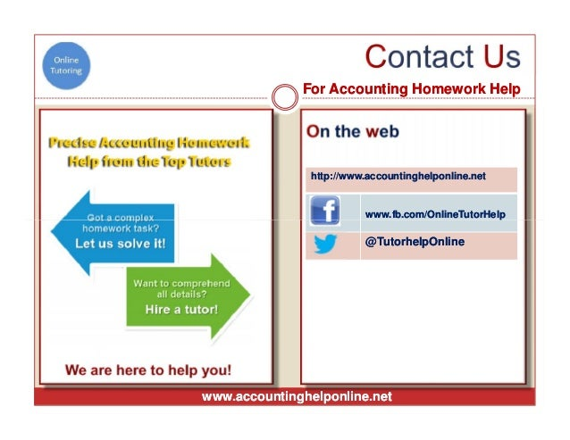 Buy accounting homework