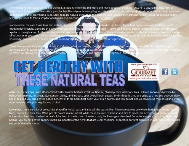 Get healthy with these natural teas