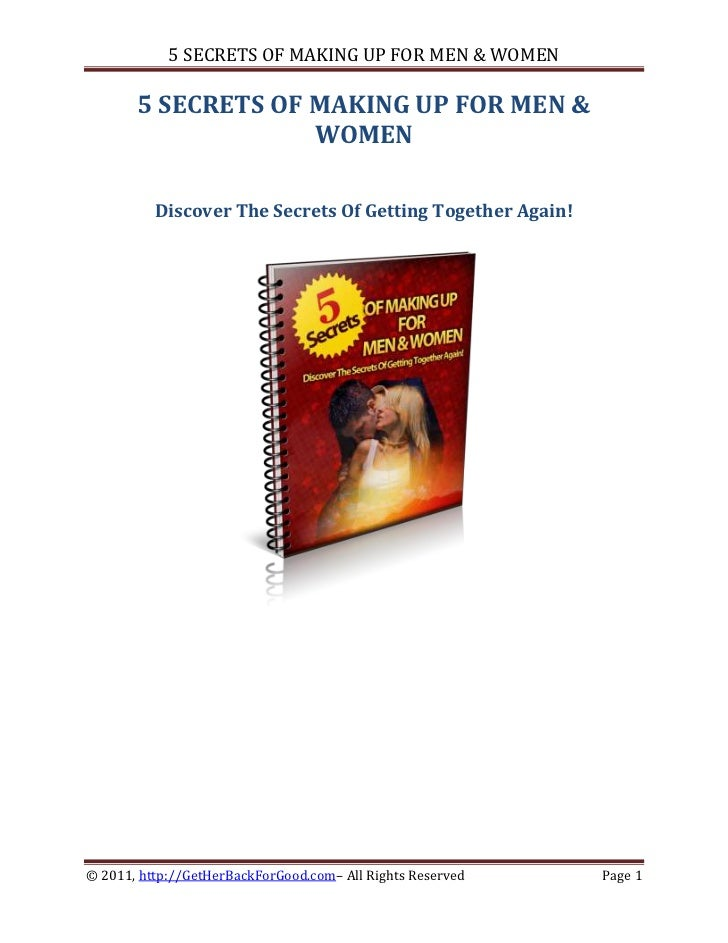 5 SECRETS OF MAKING UP FOR MEN & WOMEN       5 SECRETS OF MAKING UP FOR MEN &                    WOMEN          Discover T...