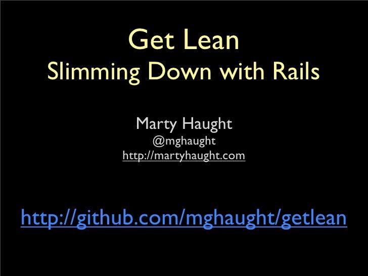Get lean tutorial
