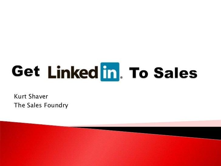 Get LinkedIn to Sales