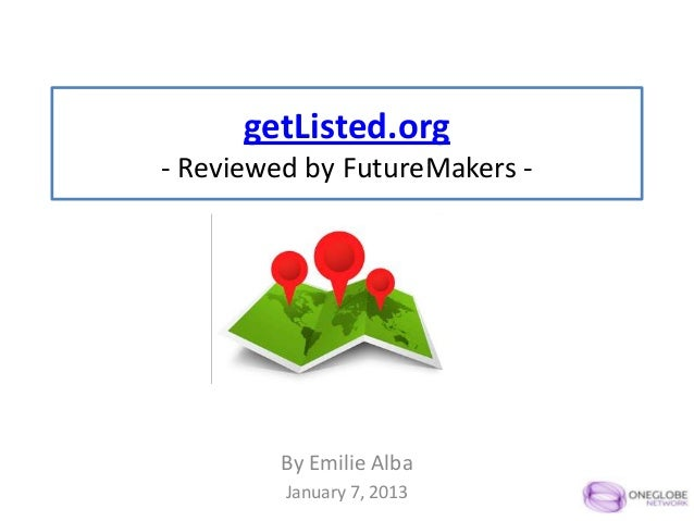 getListed.org- Reviewed by FutureMakers -         By Emilie Alba         January 7, 2013
