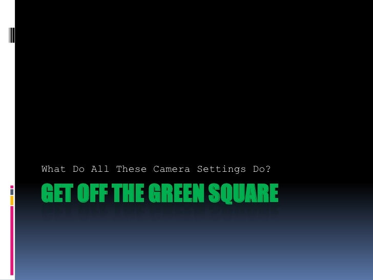 Get Off The Green Square