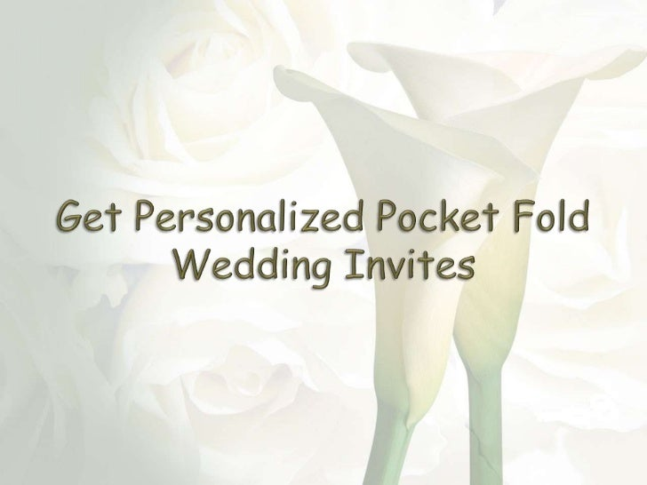 Get personalized pocket fold wedding invites