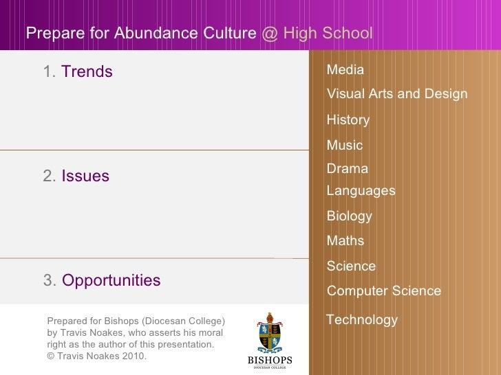 Get Ready For Abundance Culture At High School