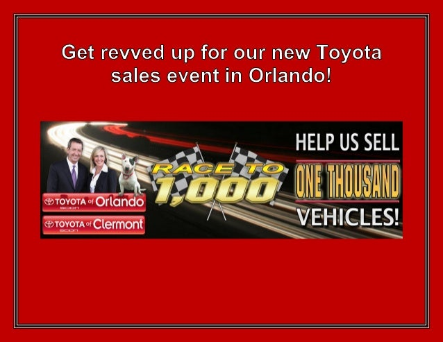 Get revved up for our new Toyota sales event in Orlando