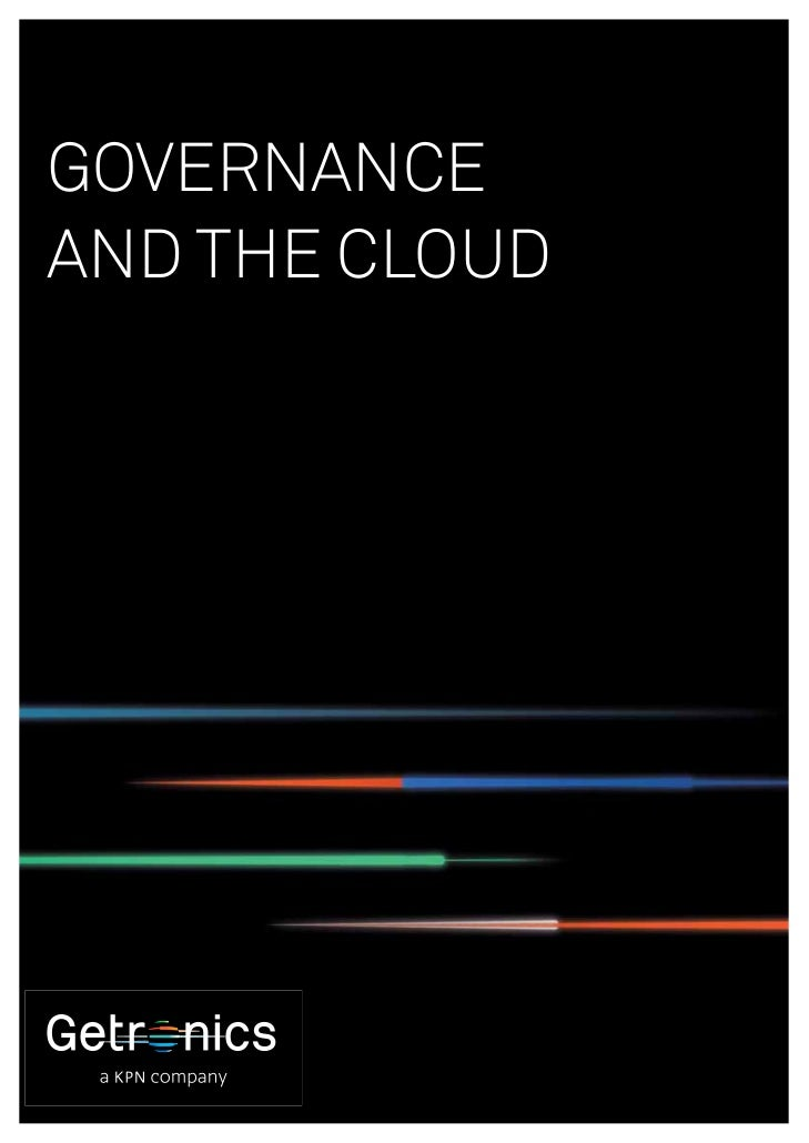 GOVERNANCEAND THE CLOUD