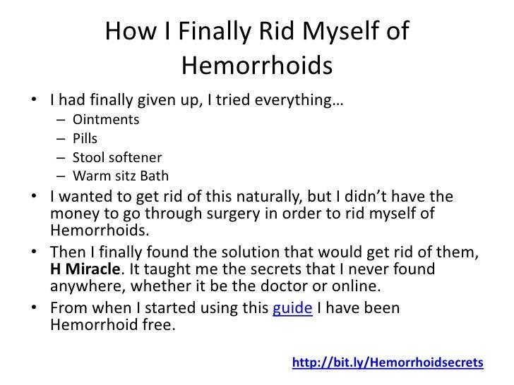 Get Rid Of Internal Hemorrhoids