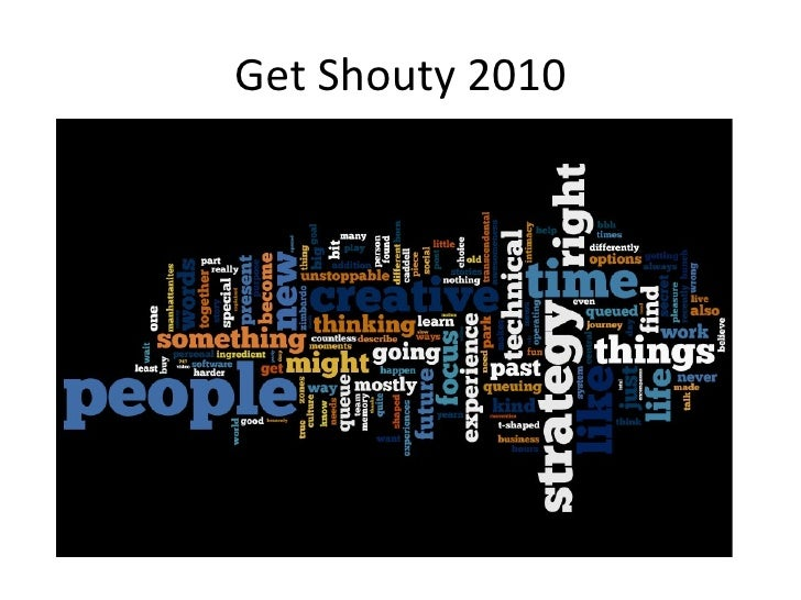 Get shouty wordle 2010