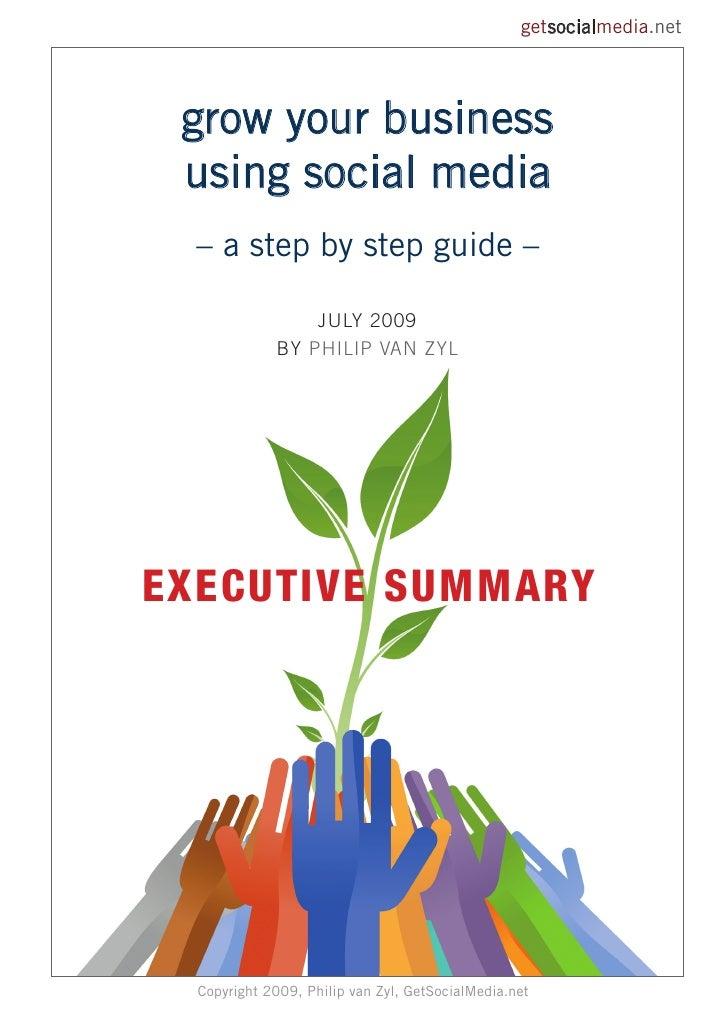 Get Social Media Guide 2009 Exec