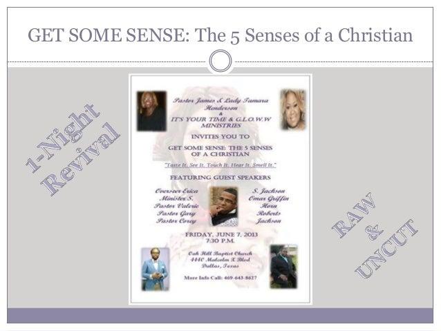 GET SOME SENSE: The 5 Senses of a Christian