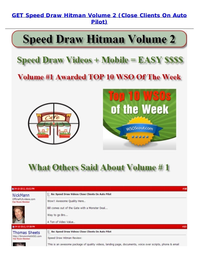 GET Speed Draw Hitman Volume 2 (Close Clients On AutoPilot)