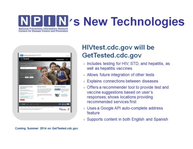 NPIN's New Technology Coming Soon: Gettested.cdc.gov