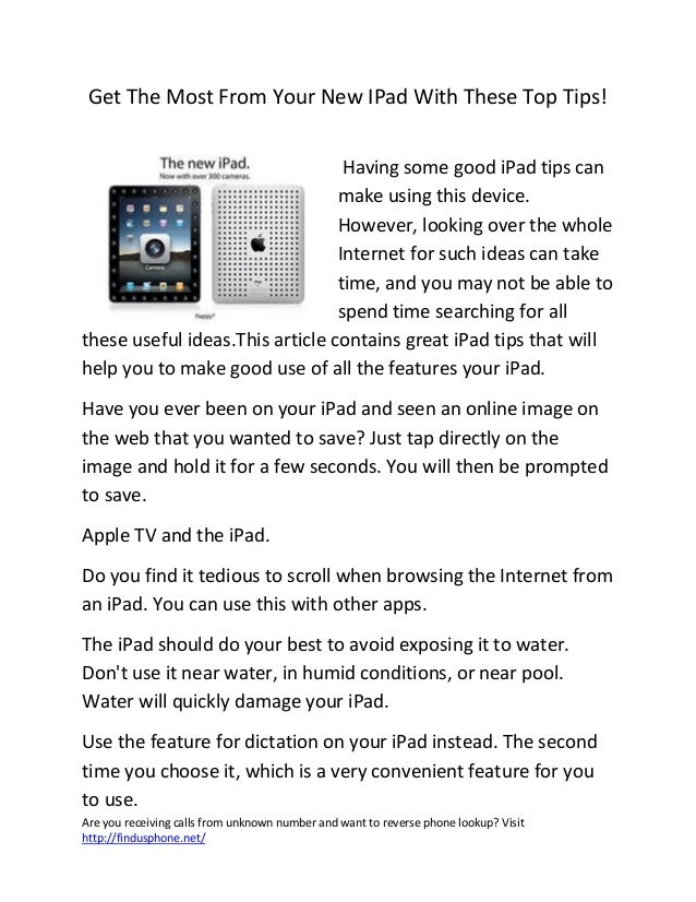 Get the most from your new i pad with these top tips
