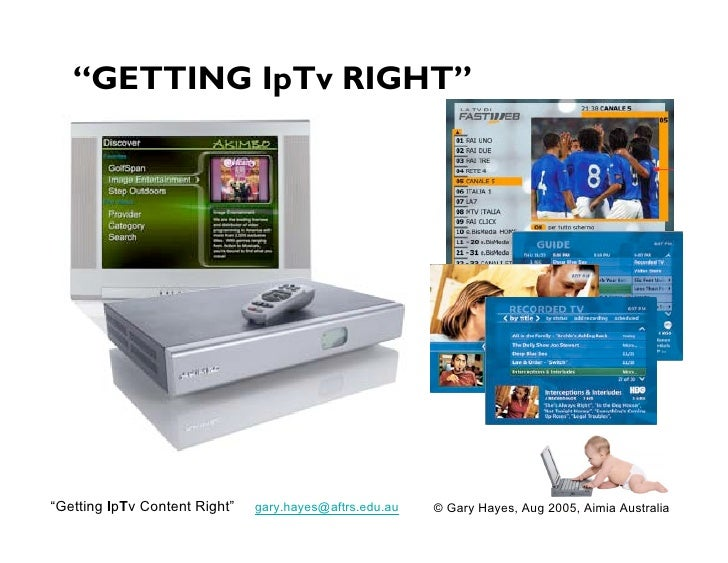 Getting IPTV Content Right