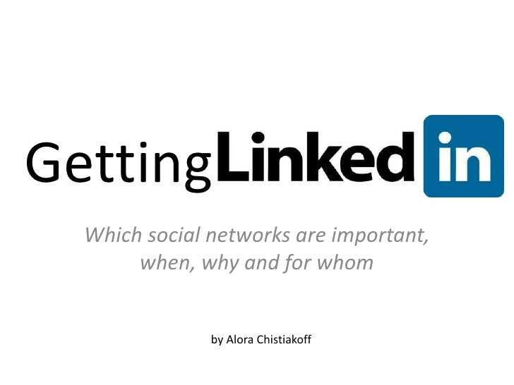 Getting Plugged In<br />Which social networks are important, when, why and for whom<br />by AloraChistiakoff<br />