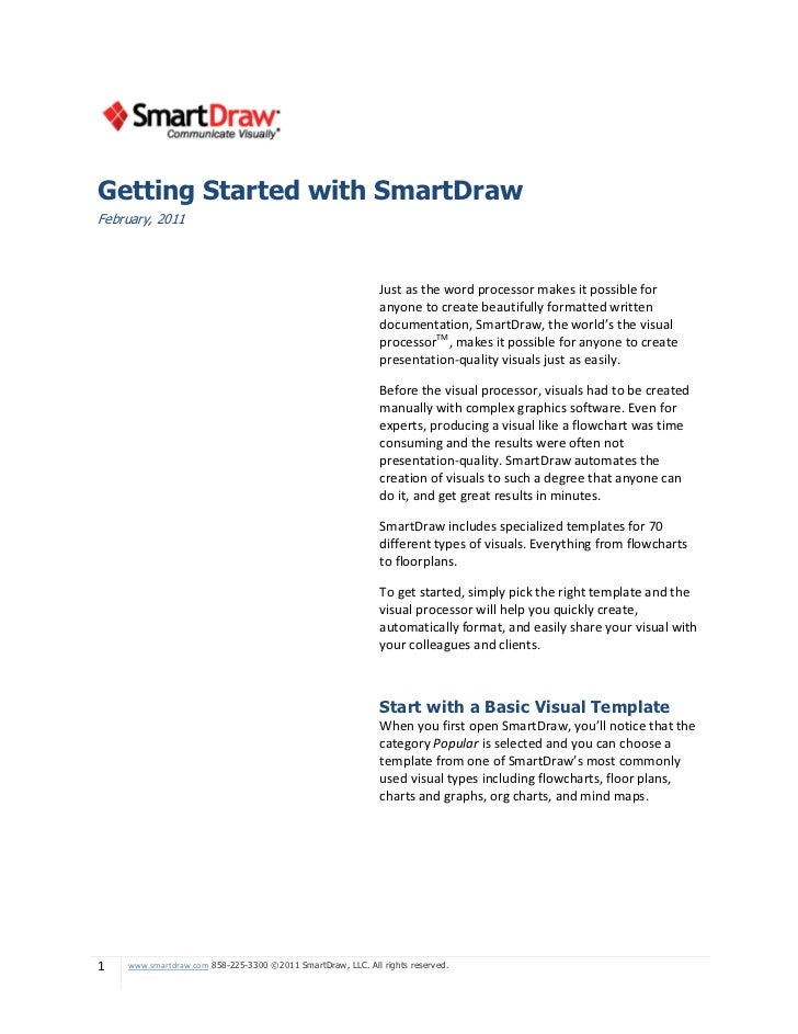 Getting Started with SmartDrawFebruary, 2011                                                             Just as the word ...