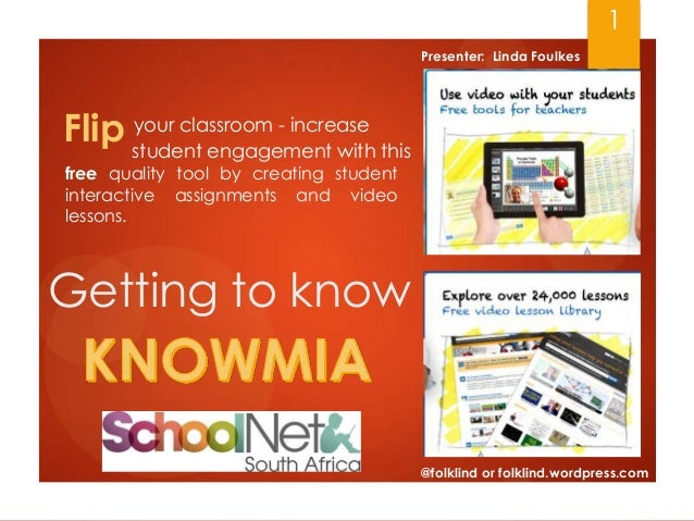 Getting2know Knowmia by Linda Foulkes
