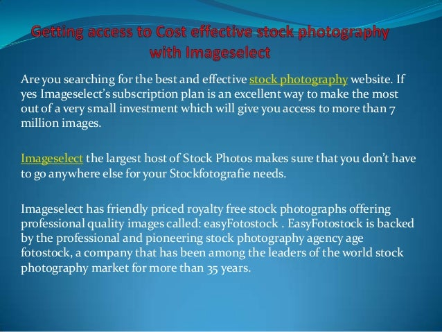 Getting access to cost effective stock photography with imageselect