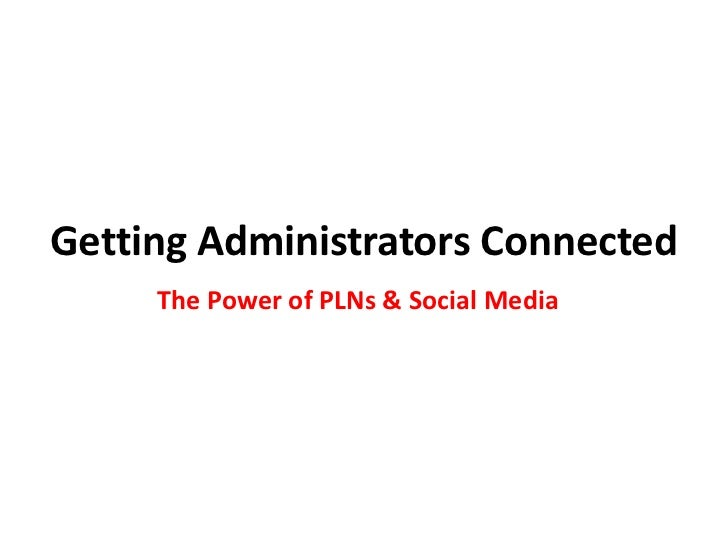Getting administrators connected