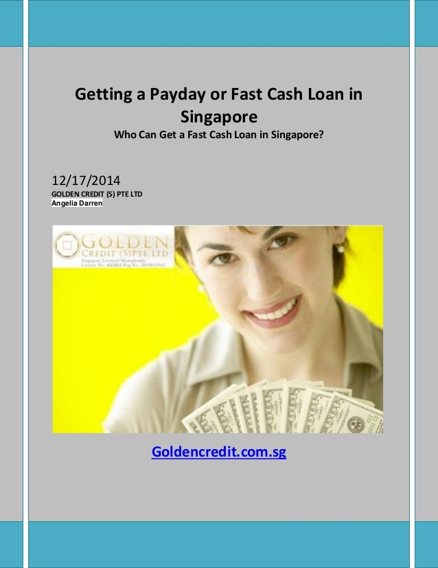 Getting a payday or fast cash loan in singapore
