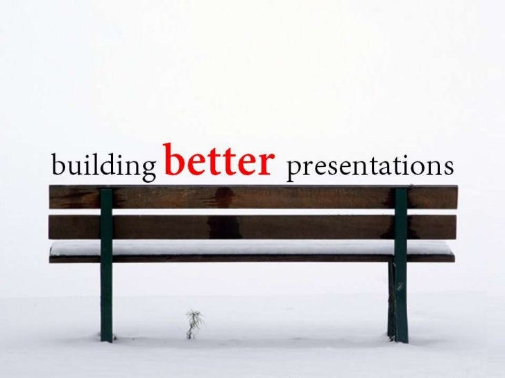 Getting better @ presentations