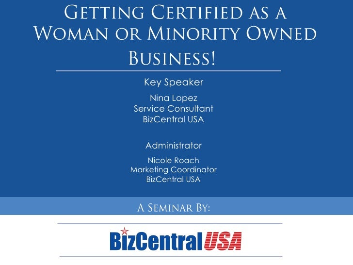 Getting Your Small Business Certified as WBE or MBE