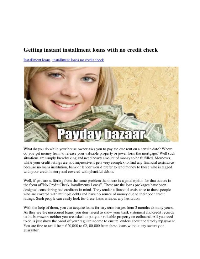 Guaranteed Installment Loans No Credit Check Direct Lenders