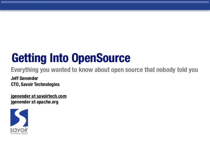 Leveraging Open Source