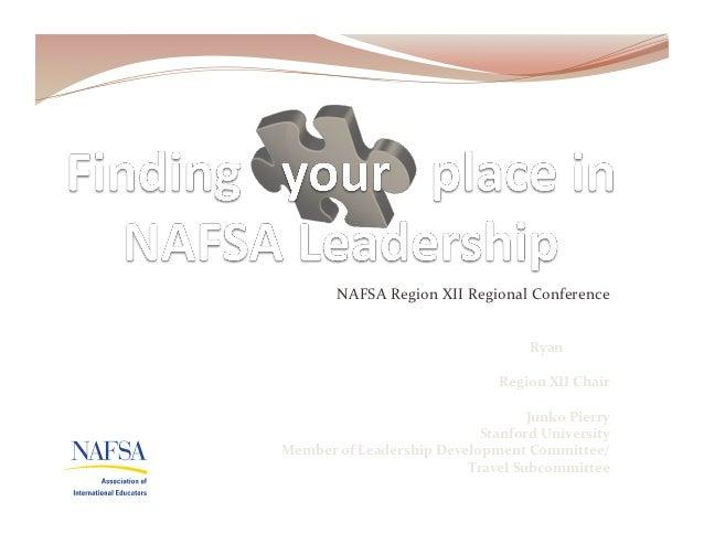 NAFSA Region XII Regional Conference                                            Ryan Larsen               ...