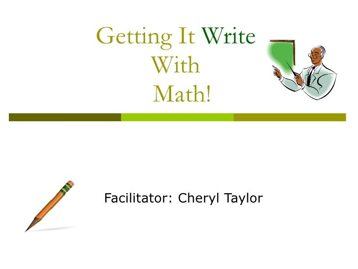 Getting It Write With Math!2