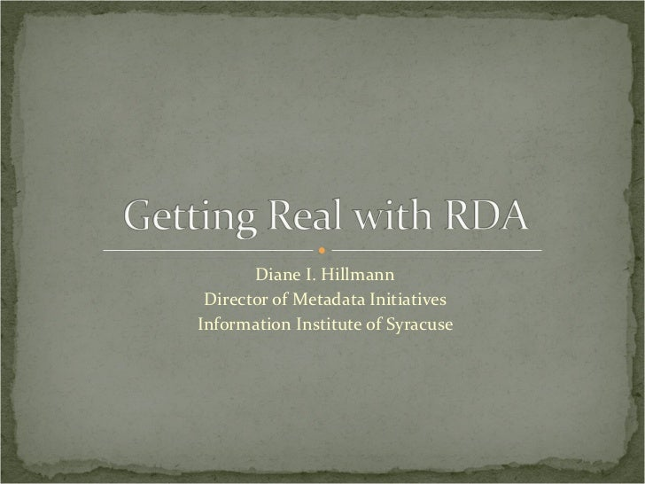 Getting Real With RDA