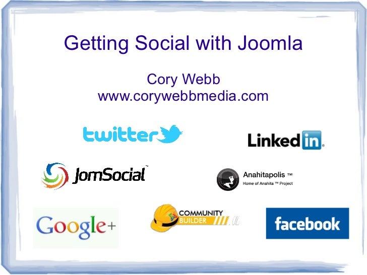 Getting Social With Joomla