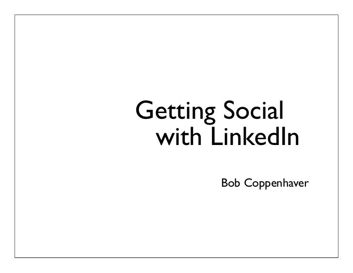 Getting Social With LinkedIn