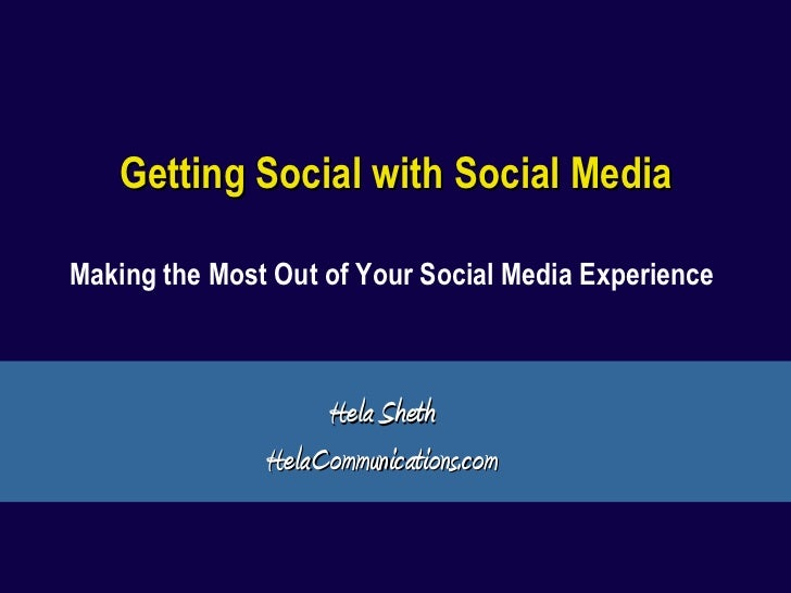 Getting Social With Social Media